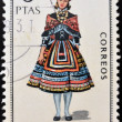 SPAIN - CIRCA 1968: A stamp printed in Spain dedicated to Provincial Costumes shows a woman from Guadalajara, circa 1968 — Stock Photo