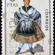 SPAIN - CIRCA 1970: A stamp printed in Spain dedicated to Provincial Costumes shows a woman from Teruel, circa 1970 — Stock Photo #27125401