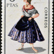 SPAIN - CIRCA 1967: A stamp printed in Spain dedicated to Provincial Costumes shows a woman from Alicante, circa 1967 — Stock Photo