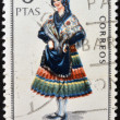 SPAIN - CIRCA 1967: A stamp printed in Spain dedicated to Provincial Costumes shows a woman from Almeria, circa 1967 — Stock Photo