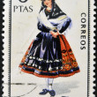 SPAIN - CIRCA 1967: A stamp printed in Spain dedicated to Provincial Costumes shows a woman from Avila, circa 1967 — Stock Photo #27125611