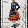SPAIN - CIRCA 1970: A stamp printed in Spain dedicated to Provincial Costumes shows a woman from Soria, circa 1970 — Stock Photo