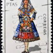SPAIN - CIRCA 1970: A stamp printed in Spain dedicated to Provincial Costumes shows a woman from Salamanca, circa 1970 — Stock Photo