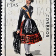 SPAIN - CIRCA 1970: A stamp printed in Spain dedicated to Provincial Costumes shows a woman from Palencia, circa 1970 — Stock Photo