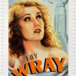 CANADA - CIRCA 2006: A stamp printed in Canada dedicated to  Canadian actors who have succeeded in Hollywood shows Fay Wray, circa 2006 — Stock Photo
