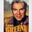CANADA - CIRCA 2006: A stamp printed in Canada dedicated to  Canadian actors who have succeeded in Hollywood shows Lorne Greene, circa 2006 — Stock Photo