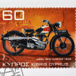 CYPRUS - CIRCA 2007: A stamp printed in Cyprus shows a motorbike, Ariel red Hunter 1939, circa 2007 — Stock Photo #27201857