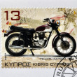Stock Photo: CYPRUS - CIRC2007: stamp printed in Cyprus shows motorbike, Triumph Dayton1972, circ2007