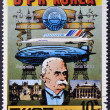 DPR KOREA- CIRCA 1981: A stamp printed in Korea shows portrait of Ferdinand von Zeppelin and dirigible, circa 1981 — Stock Photo