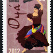 CUBA - CIRCA 2012: Stamp printed in Cuba dedicated to  Afro-Cuban dance and Yoruba gods, shows Oya, circa 2012 — Foto de Stock