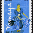 CUBA - CIRCA 2012: Stamp printed in Cuba dedicated to  Afro-Cuban dance and Yoruba gods, shows Yemaya, circa 2012 — Stock Photo