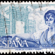 SPAIN - CIRCA 1968: A stamp printed in Spain shows Agustina de Aragon, circa 1968 — Stock Photo