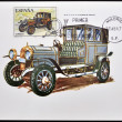 SPAIN - CIRCA 1979: A stamp printed in Spain shows a classic car, Elizalde, 1915, circa 1979. — Stock Photo