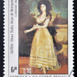 GUINEA - CIRCA 1984: A stamp printed in Republic of Guinea Bissau shows draw by artist Goya - Donna Tadeo Arias de Enriques, circa 1984 — Foto Stock
