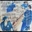 UNITED KINGDOM - CIRCA 1999: A stamp printed in Great Britain shows nursing care, circa 1999 — Stock Photo
