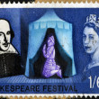 UNITED KINGDOM - CIRCA 1964: A stamp printed in Great Britain dedicated to the 400th anniversary of William Shakespeare, shows Henry V praying at Agincourt, circa 1964 — Stock Photo #27202367