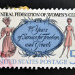 Stock Photo: UNITED STATES OF AMERIC- CIRC1966: stamp printed in USshows Women of 1890 and 1966, General Federation of Womens Clubs, circ1966