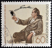 GERMANY - CIRCA 1982: a stamp printed in Germany shows Johann Wolfgang von Goethe, Writer and Natural Philosopher, circa 1982 — Stock Photo