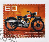CYPRUS - CIRCA 2007: A stamp printed in Cyprus shows a motorbike, Ariel red Hunter 1939, circa 2007 — Stock Photo