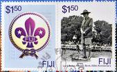 Fiji - intorno al 2007: un timbro stampato nelle figi dedicato a lord baden powell, intorno al 2007 — Foto de Stock