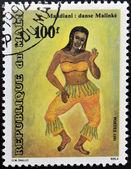 MALI CIRCA 1991: stamp printed in Mali shows Tribal dance, Mandiani, circa 1991 — Zdjęcie stockowe