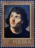 POLAND - CIRCA 1973 : Stamp printed in Poland, shows Nicolaus Copernicus, Polish and Prussian astronomer, mathematician, economist, canon of the Renaissance, circa 1973 — Stock Photo