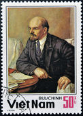 VIETNAM - CIRCA 1983: Stamp printed in Vietnam shows Lenin, a Russian revolutionary, Bolshevik leader, communist politician, principal leader of the October Revolution, circa 1983. — Stock Photo