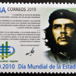 CUBA - CIRCA 2010: A stamp printed in cuba dedicated to World Statistics Day, shows Ernesto Che Guevara, circa 2010 — Stock Photo #27577173