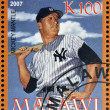 MALAWI - CIRCA 2007: A stamp printed in Malawi dedicated to greatest baseball players, shows Mickey Mantle, circa 2007 — Stock Photo