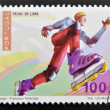 PORTUGAL - CIRCA 1997: A stamp printed in Portugal dedicated to extreme sports, shows Inline Skating, circa 1997 — Stock Photo