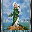 Stock Photo: SAN MARINO - CIRC1966: stamp printed in SMarino shows Our Lady of Europe, circ1966