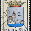 SPAIN - CIRCA 1965: A stamp printed in Spain dedicated to Arms of Provincial Capitals shows Biscay, circa 1965. — Stok fotoğraf