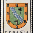 SPAIN - CIRCA 1965: A stamp printed in Spain dedicated to Arms of Provincial Capitals shows Sahara, circa 1965.  — Stock Photo
