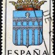SPAIN - CIRCA 1965: A stamp printed in Spain dedicated to Arms of Provincial Capitals shows Segovia, circa 1965.  — Stock Photo