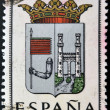 SPAIN - CIRCA 1965: A stamp printed in Spain dedicated to Arms of Provincial Capitals shows Zamora, circa 1965. — Stok fotoğraf