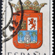 SPAIN - CIRC1965: stamp printed in Spain dedicated to Arms of Provincial Capitals shows GrCanaria, circ1965. — Stock Photo #27577895