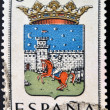 SPAIN - CIRCA 1965: A stamp printed in Spain dedicated to Arms of Provincial Capitals shows Guadalajara, circa 1965.  — Stock Photo