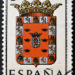 SPAIN - CIRCA 1965: A stamp printed in Spain dedicated to Arms of Provincial Capitals shows Murcia, circa 1965.  — 图库照片