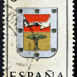 SPAIN - CIRCA 1965: A stamp printed in Spain dedicated to Arms of Provincial Capitals shows Ifni, circa 1965.  — Stock Photo