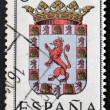 SPAIN - CIRCA 1965: A stamp printed in Spain dedicated to Arms of Provincial Capitals shows Cordoba, circa 1965.  — Foto Stock