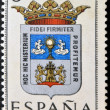 SPAIN - CIRCA 1965: A stamp printed in Spain dedicated to Arms of Provincial Capitals shows Lugo, circa 1965.  — Foto de Stock