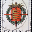 SPAIN - CIRCA 1965: A stamp printed in Spain dedicated to Arms of Provincial Capitals shows Valladolid, circa 1965.  — Stock Photo