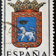 SPAIN - CIRC1965: stamp printed in Spain dedicated to Arms of Provincial Capitals shows Navarra, circ1965. — Stock Photo #27578101