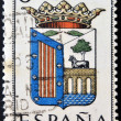 SPAIN - CIRCA 1965: A stamp printed in Spain dedicated to Arms of Provincial Capitals shows Salamanca, circa 1965. — Stock Photo