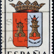 SPAIN - CIRCA 1965: A stamp printed in Spain dedicated to Arms of Provincial Capitals shows Avila, circa 1965.  — Stock Photo
