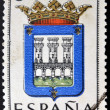 SPAIN - CIRC1965: stamp printed in Spain dedicated to Arms of Provincial Capitals shows Logrono, circ1965. — Stock Photo #27578217