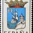SPAIN - CIRC1965: stamp printed in Spain dedicated to Arms of Provincial Capitals shows Santander, circ1965. — Stock Photo #27578231