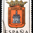SPAIN - CIRCA 1965: A stamp printed in Spain dedicated to Arms of Provincial Capitals shows Soria, circa 1965. — Stok fotoğraf