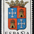 SPAIN - CIRCA 1965: A stamp printed in Spain dedicated to Arms of Provincial Capitals shows Palencia, circa 1965.  — Stock Photo
