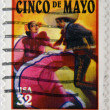 UNITED STATES OF AMERICA - CIRCA 1998: A stamp printed in USA shows salute to the holiday Cinco de Mayo, circa 1998  — Stock Photo